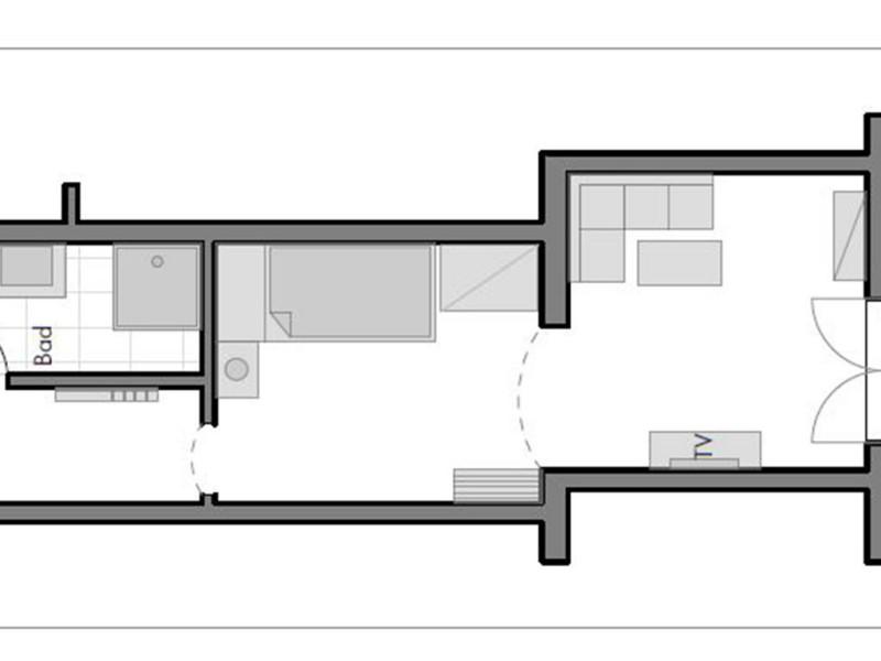 Kleines Doppelzimmer mit getrennten Betten